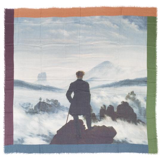 Tuch C. D. Friedrich »Der Wanderer über dem Nebelmeer«.