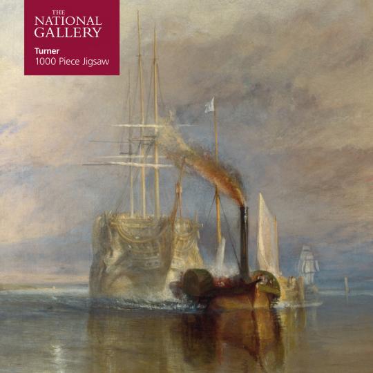 Kunstpuzzle mit 1000 Teilen. Turner's »The Fighting Temeraire«.