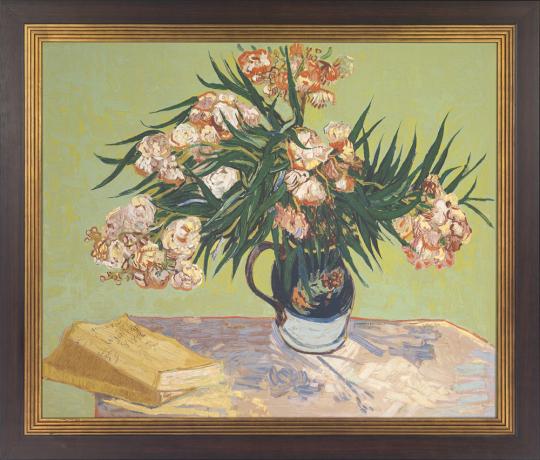 Vase mit Oleander und Büchern. Vincent van Gogh (1853 - 1890).