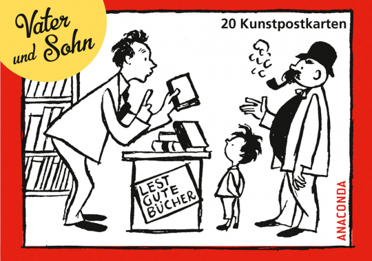 Vater und Sohn. 20 Kunstpostkarten.