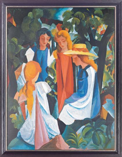 Vier Mädchen. August Macke (1887-1914).
