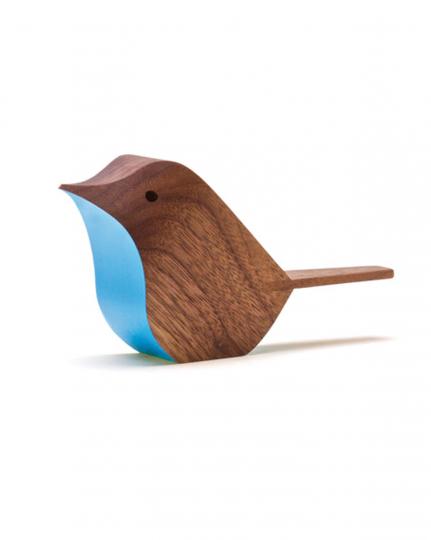 Vogel von Jacob Pugh, blau/dunkel.