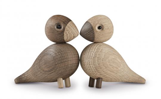 Vogelpaar »Die Unzertrennlichen«.