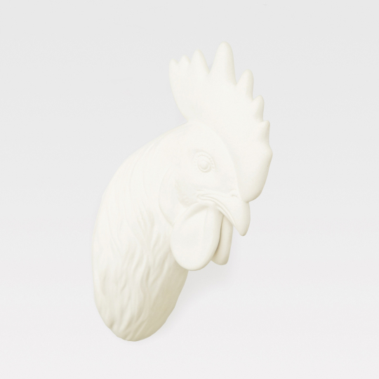 Wandhaken »Hahnenkopf«, naturweiß.