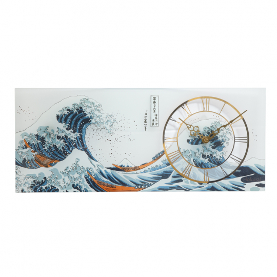 Wanduhr Katsushika Hokusai »Die Welle«.