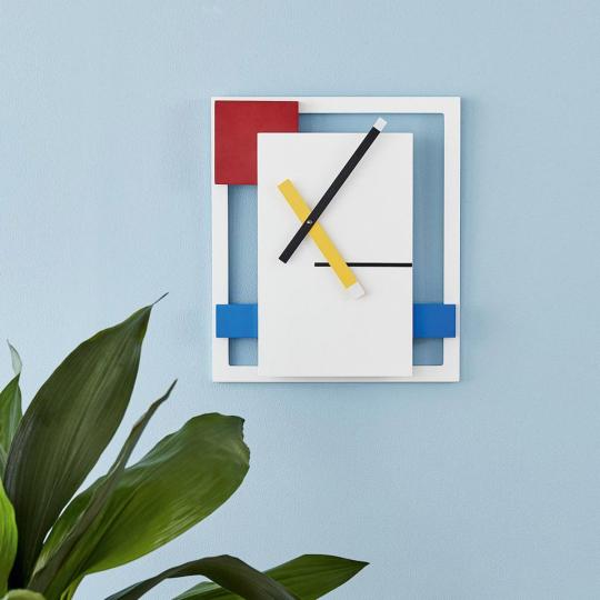 Wanduhr »De Stijl« nach Piet Mondrian.