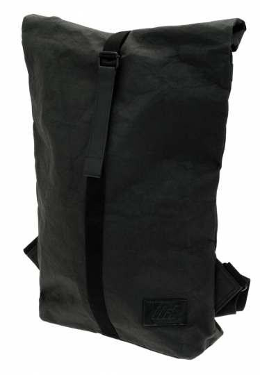 Wasserfester Papierrucksack »Paper Boy«, schwarz.