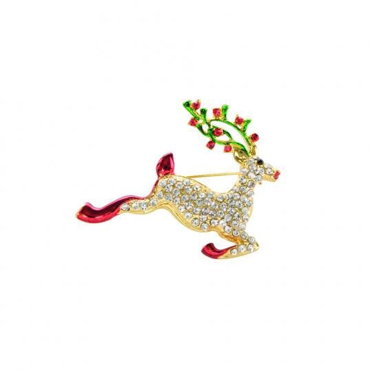 Weihnachtliche Brosche »Reh«.