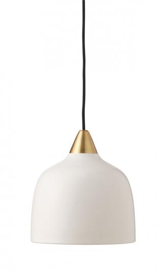 Weiße Deckenlampe.