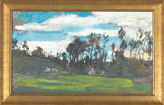 Wiese am Waldrand. Claude Monet (1840-1926).