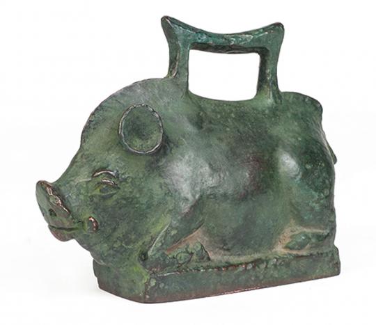 Wildschweingewicht. Italien, 50 n. Chr.