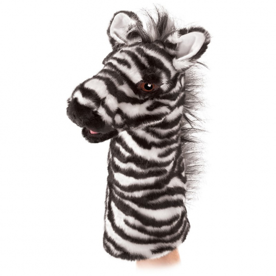 Zebra Handpuppe.