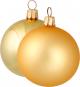 12 Christbaumkugeln. Gold. Bild 1