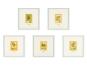 5 Tim und Struppi-Lithographien im Rahmen. Bild 1