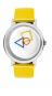 Bauhaus-Armbanduhr »Quadratur des Kreises«, gelb. Bild 1