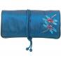 Bestickte Seiden-Schmuckrolle »Tiffany Libellen«, blau. Bild 1
