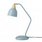 Blau graue Schreibtischlampe. Bild 1