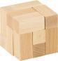 Holzpuzzle »Würfel«, naturfarben. Bild 1