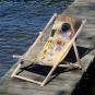 Kunst-Liegestuhl Gustav Klimt »Der Kuss«. Bild 1