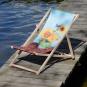 Kunst-Liegestuhl Vincent van Gogh »Sonnenblumen«. Bild 1