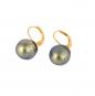 Ohrringe aus Murano Perle, blau. Bild 1