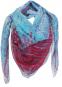 Quadratisches Seidentuch »Lily Jeans Rouge«. Bild 1