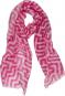 Schal nach Anni Albers »Mäander«, pink. Bild 1