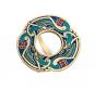 Schal Ring »Keltische Vögel«, türkis. Bild 1