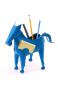 Stift- und Zettelhalter Pferd, blau. Bild 1