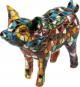 Buntes Mosaik-Schwein. Bild 2