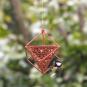 Erdnuss-Spender für Vögel, rot. Bild 2