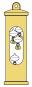 Thermometer »Galileiglas« mit Wandhalterung. Bild 2