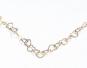 Herzchenkette aus Silber und Gold. Bild 2