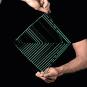 Kinetisches Mobile & Spiel »The Square Wave«, smaragdgrün. Bild 2