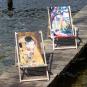 Kunst-Liegestuhl Gustav Klimt »Der Kuss«. Bild 2