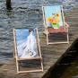 Kunst-Liegestuhl Joaquín Sorolla »Spaziergang entlang der Küste«. Bild 2