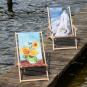 Kunst-Liegestuhl Vincent van Gogh »Sonnenblumen«. Bild 2