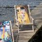Liegestuhl mit Armlehnen Gustav Klimt »Der Kuss«. Bild 2