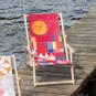 Liegestuhl mit Armlehnen Paul Klee »Burg und Sonne«. Bild 2