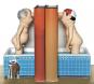 Loriot. Zwei Herren im Bad. Zwei Buchstützen. Bild 2
