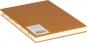 Mittelgroßes Skizzenbuch mit linierten Seiten, braun. Koptische Bindung. Bild 2