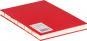 Mittelgroßes Skizzenbuch mit linierten Seiten, rot. Koptische Bindung. Bild 2