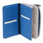 Moleskine Doppel-Geldbörse, beige und blau. Bild 2