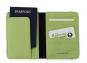 Moleskine Reisepass-Hülle & Geldbörse, grau und grün. Bild 2