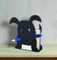 Notizzettelhalter »Hund«, schwarz. Bild 2