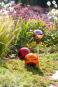 Rosenkugel für den Garten, gold und verspiegelt. Bild 2