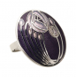Schal Ring Charles M. Mackintosh »Rose«, violett. Bild 2