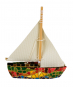 Segelboot aus Mosaik. Bild 2