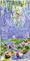Seidenschal Claude Monet »Seerosen«, blau. Bild 2