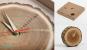 Uhr aus Baumscheibe »Tischuhr Baumscheibe«. Bild 2